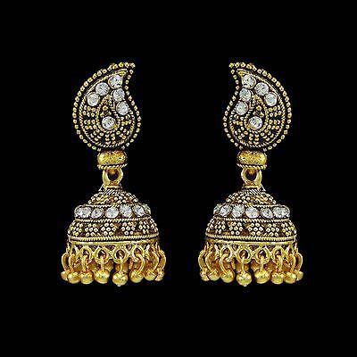 Bijoux De Mode Traditionnel Indien Jhumka Ethnique Bollywood Style Dangle Femmes
