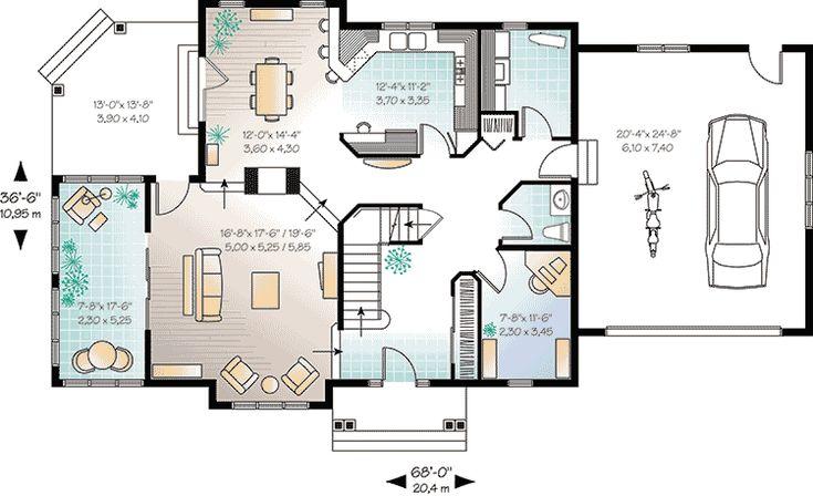 Plan 21757dr Bright Comfortable Elegance Open Concept House Plans House Plan With Loft House Floor Plans Open house floor plan layouts