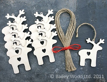 Make party favors that are varied simple cutout ornaments