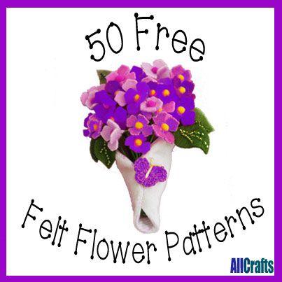 50 Free Felt Flower Patterns
