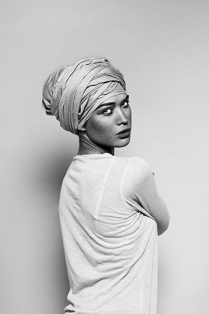 Turban Black and White