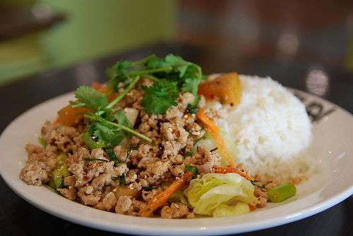 Larb Gai - Laos/Northern Thailand. Minced meat, shards of crisp red shallot, lime juice, herbs, roasted rice powder and dried chillies... larb can be fresh and fragrant, skipping across the tongue, or seriously, pungently powerful.For the recipe and tips on where to find the dish, check out our guide to the world's best spicy food: http://shop.lonelyplanet.com/world/worlds-best-spicy-food/