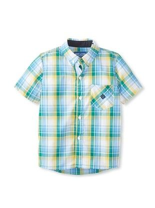 59% OFF Andy & Evan Boy's 2-7 Nothing Else Madres Big Boy Button-Up (Yellow Madras)