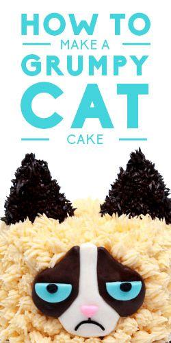 How To Make A Grumpy Cat Cake