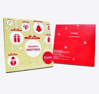 Promotional A5 Desktop Advent Calendars with all over full colour print