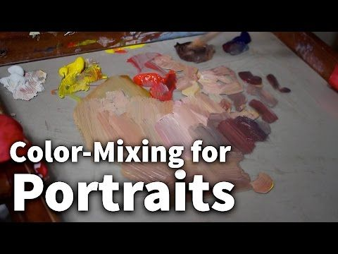 FIFTY SHADES OF...SKIN - How to mix CAUCASIAN flesh tones by ART Tv - YouTube