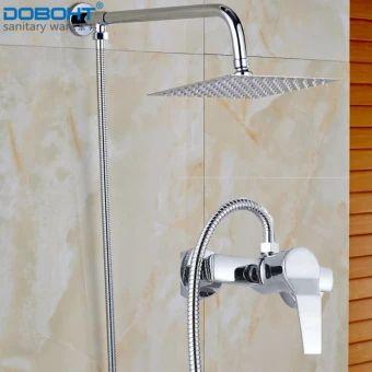 อย่าช้า  DOBOHT Bathroom Home Shower Set with 2 Function Faucet 8 inchStainless Steel Shower Head and Shower Arms and 1.5M Hose(Chrome) -intl  ราคาเพียง  1,350 บาท  เท่านั้น คุณสมบัติ มีดังนี้ Type:&Shower Head Arms Size:&40 CM Surface&Treatment:&&Chrome