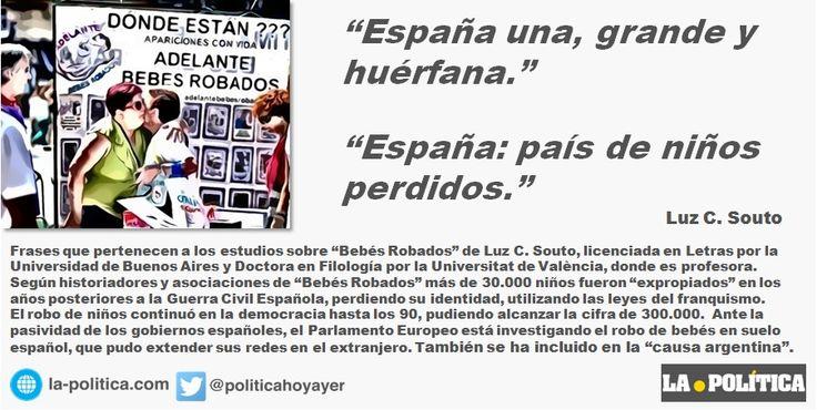 30 agosto Día Internacional de las Víctimas de Desapariciones Forzadas  Concentración Asociaciones Víctimas de #BebésRobados ante Congreso Diputados a las 10:30h  ►http://www.la-politica.com/espana-una-grande-y-huerfana/