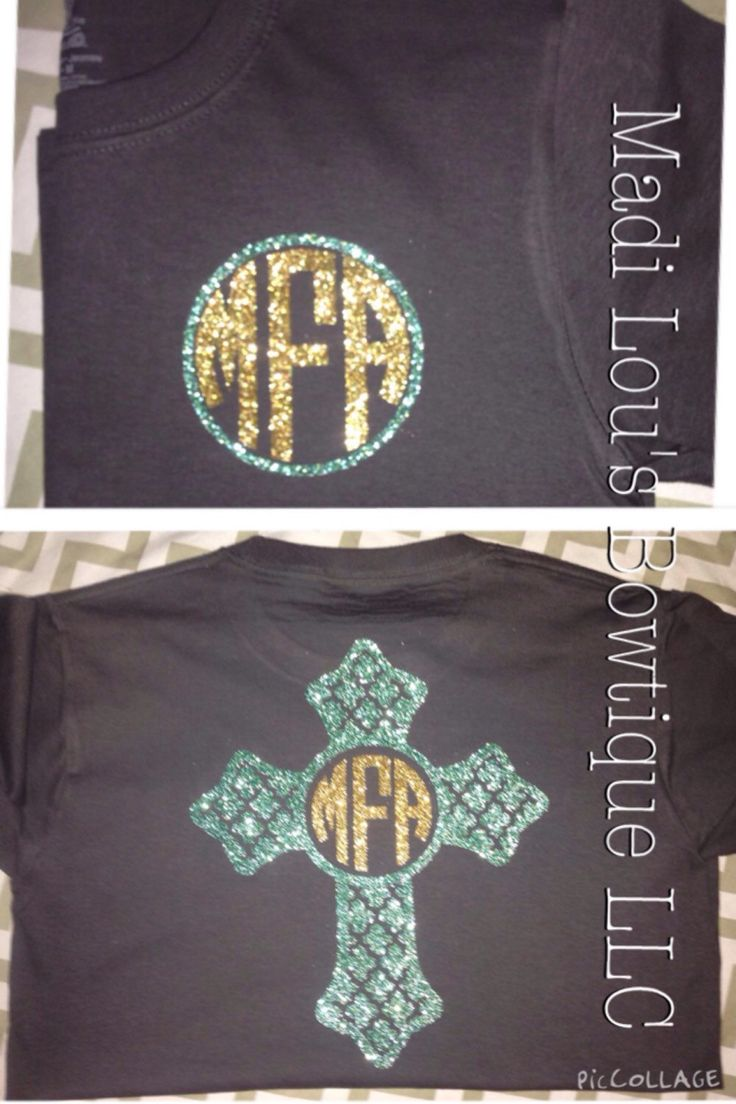 A personal favorite from my Etsy shop https://www.etsy.com/listing/229006650/monogram-cross-shirt