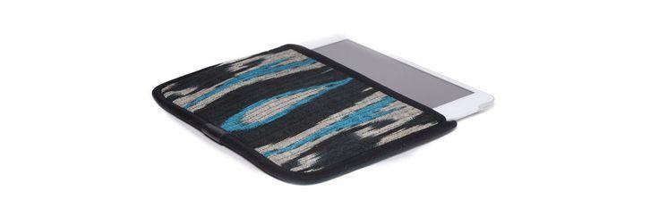 Чехол для Apple iPad Mini, бежевый с бирюзовым в черной окантовке