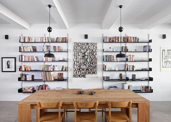 : Interior Design, Dining Rooms, Bookcase, Decor, Spaces, Ideas, Bookshelves, Interiors, Diningroom