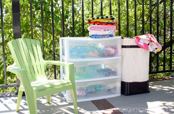 A Simple and Affordable Way to Organize Pool Toys