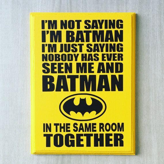 Batman Sign / Batman Decor / Batman Room Decor / Superhero Wall Art / Superhero Sign / Superhero Nursery / Batman Gifts / Boys Room Decor