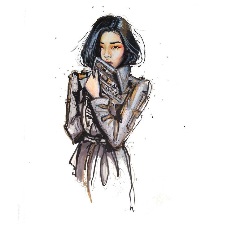 Liu Wen / 9 x 12 Original Illustration $600 USD