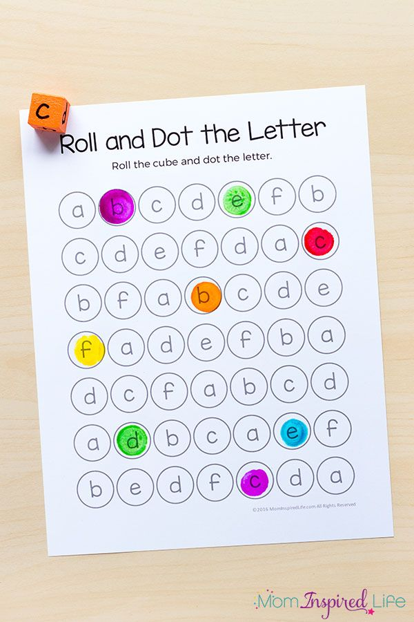 roll and dot the letter alphabet activity and printable kidteach learning letters alphabet. Black Bedroom Furniture Sets. Home Design Ideas