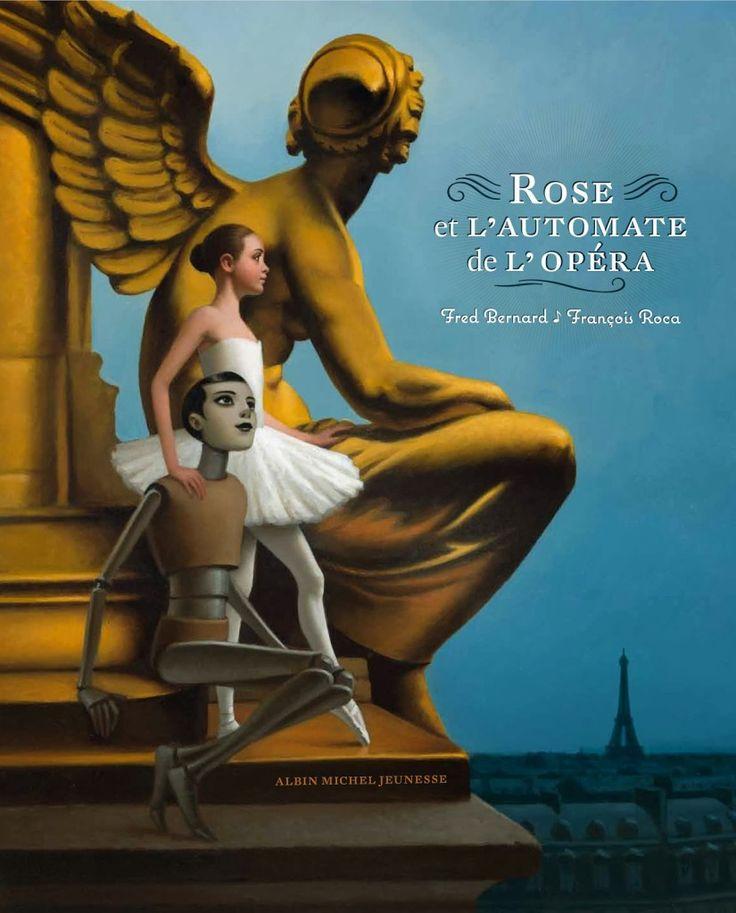 """François Roca illustration for """"Rose et L'Automate de L'Opera."""