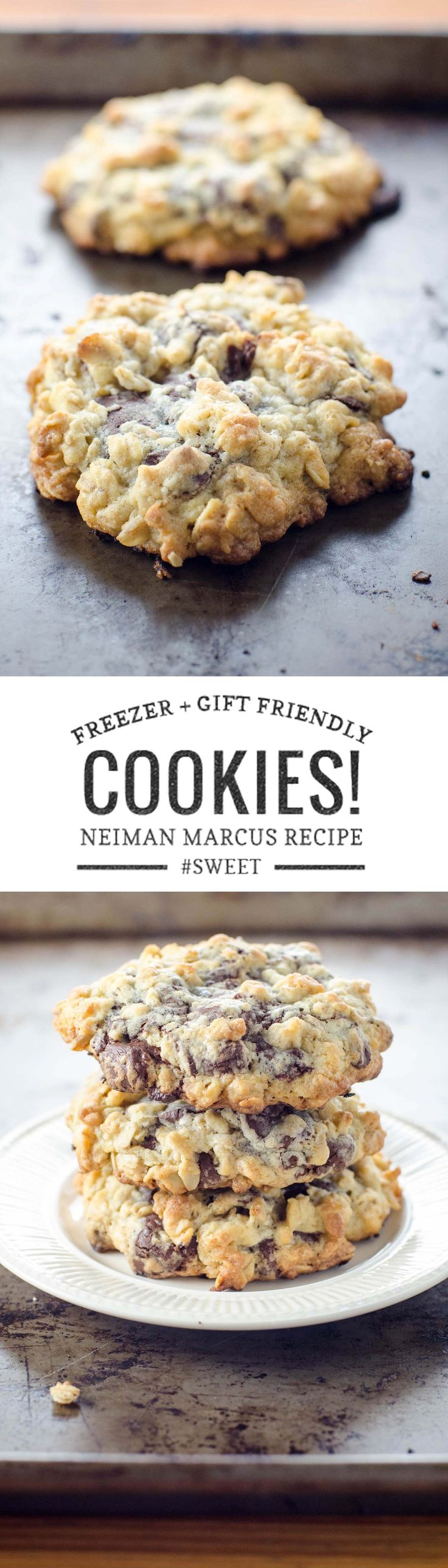 The Neiman Marcus cookie recipe of your dreams is easy to freeze for later and/or share as the world's best hostess gift. via @umamigirl