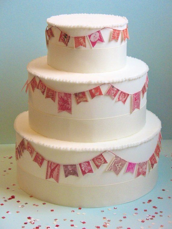 Stamp Garland For Wedding Cake Wedding Ideas Pinterest