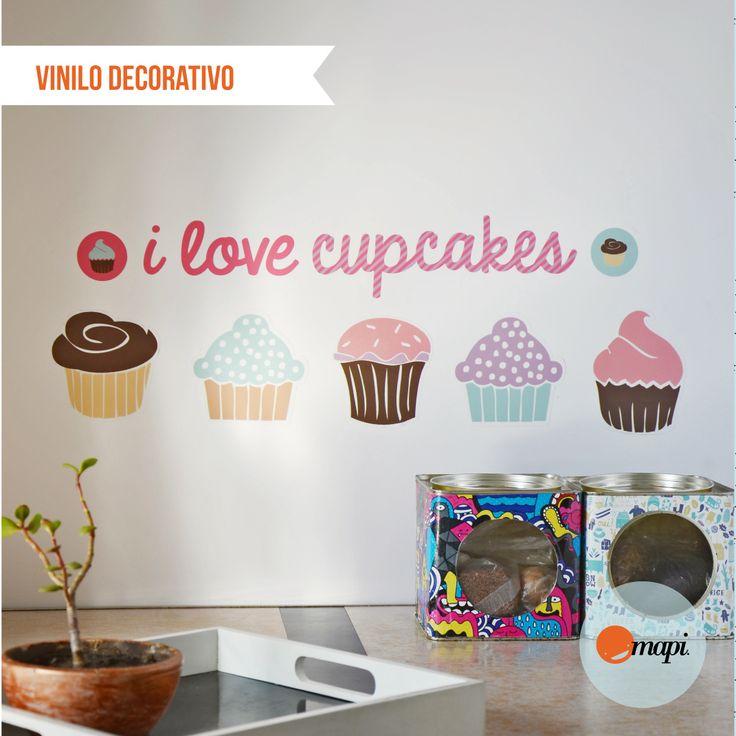 Vinilo Decorativo - Cupcakes