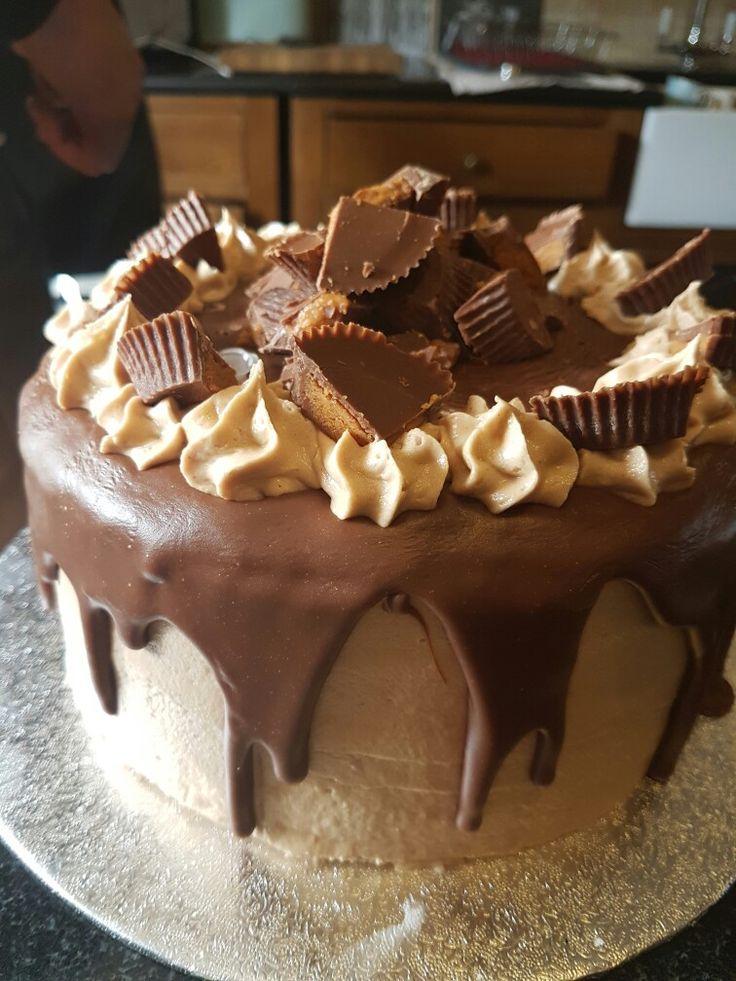 Reeces pieces birthday cake