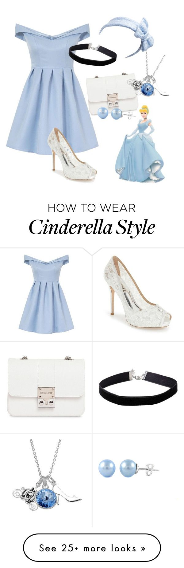 """Cinderella"" by arielle-22 on Polyvore featuring Design Inverso, Chi Chi, Miss Selfridge, Disney, Beauxoxo, Badgley Mischka, disney, cinderella, princess and disneybound"
