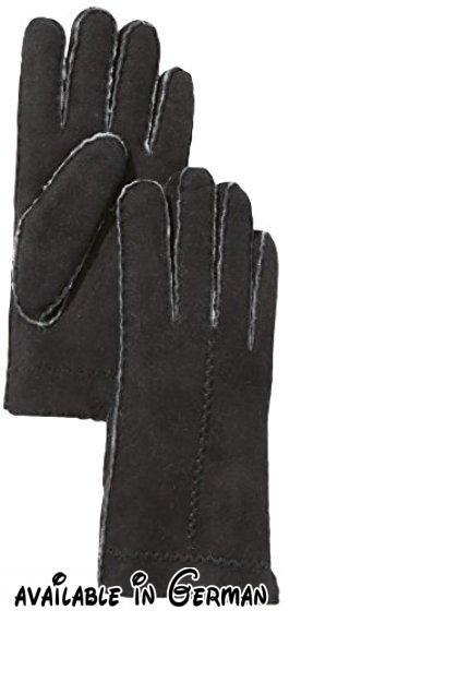 Roeckl Damen Handschuh Flechtnaht Lammfell 13013-646, Schwarz (000), 7.5 (Herstellergröße: 7.5). Sportive Handschuhe aus super warmem und weichem Seidenlammfell mit feinen Ziernähten auf der Oberhand.. Handnaht; Länge: 2 Zoll #Apparel #ACCESSORY