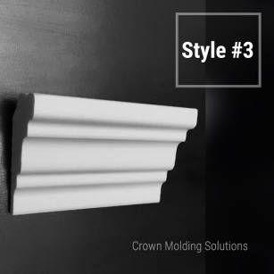 Decorative crown molding, Flexible crown molding, Styrofoam crown molding, Base molding, Chair rail molding, Corner blocks, Medallians - Crown Molding Solutions
