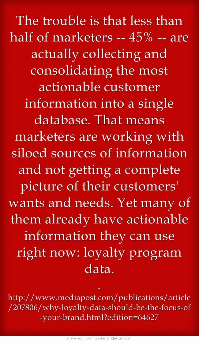 The trouble is that less than half of marketers -- 45% -- are...