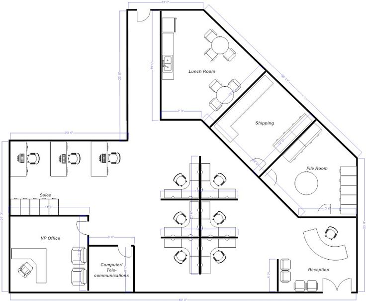 open office floor plans. 5 Highly Efficient Office Layouts image Officelayout 600x386  office Pinterest spaces and designs