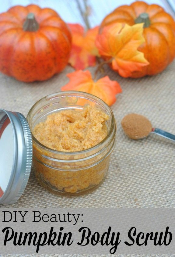 DIY Beauty Pumpkin Body Scrub #diy #beauty #pumpkin