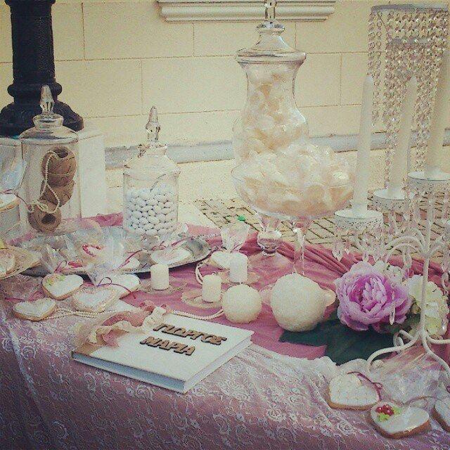 Τραπέζι ευχών γάμου vintage!