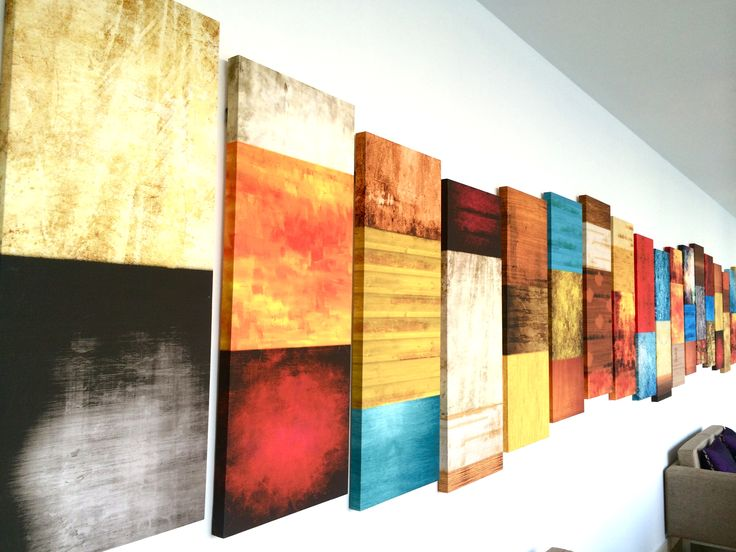 Panelled canvas art for the Corridor.