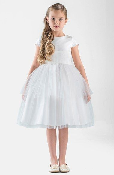Us Angels Silk & Tulle Dress (Toddler Girls) available at #Nordstrom