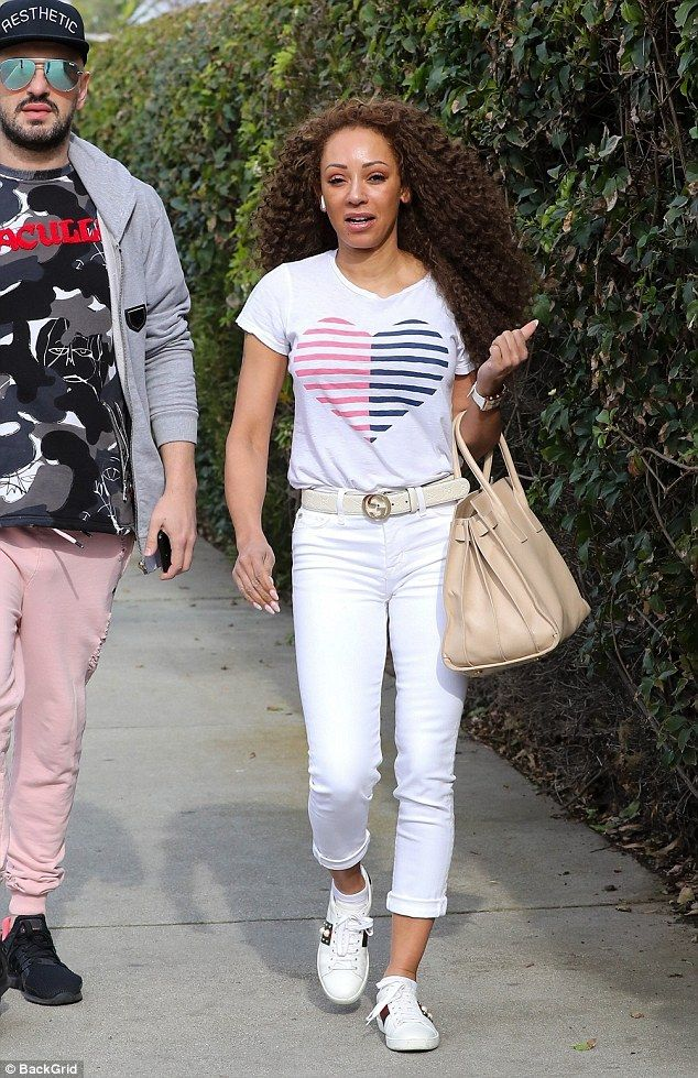 37f22a273a0 Mel B steps out with daughter Angel and hairdresser Gary Madatyan ...