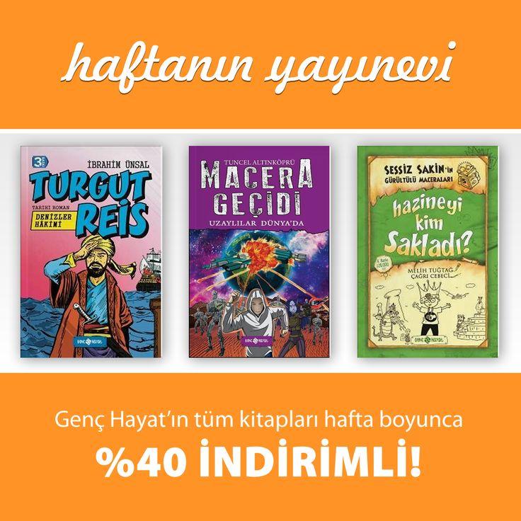 Haftanın Yayınevi Fırsatını Kaçırmayın! Tüm Kitaplar %40 İndirimli!  Kitapları İnceleyin: http://www.kitapyurdu.com/yayinevi/genc-hayat/5621.html  #kitap #kitapyurdu