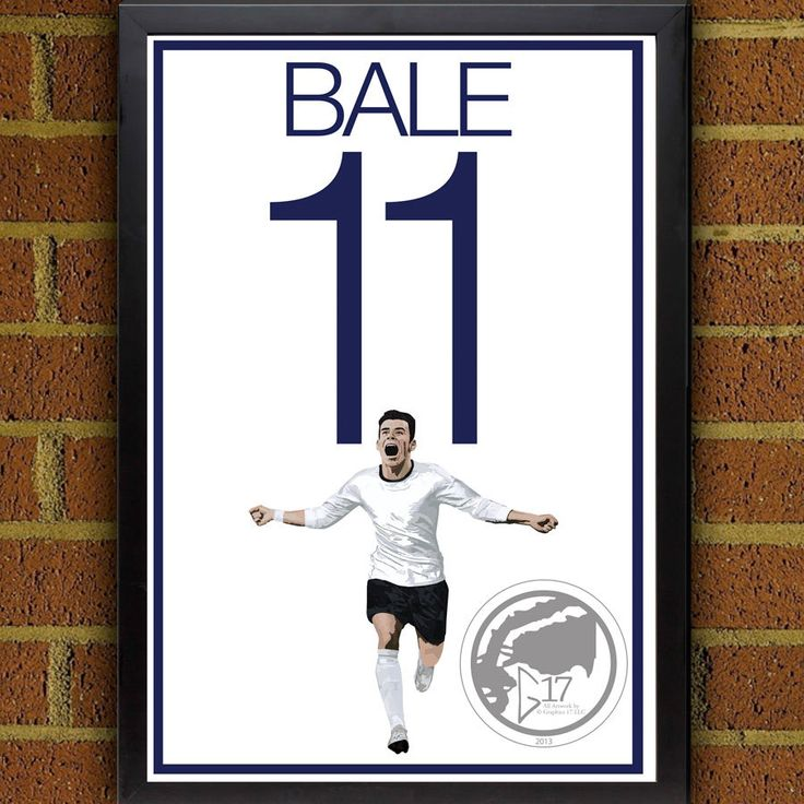 Spurs Bale 11 Poster - Tottenham Hotspurs - Wales Soccer Poster- 8x10, 8.5x11, 13x19, poster, art, wall decor, home decor by Graphics17 on Etsy