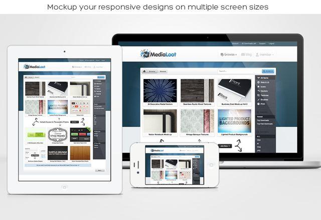 Photoshop actions to make mock ups for clients   Design Mock-up Pack