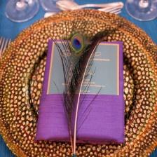 #latelierrouge #indian #wedding #charger #peacock