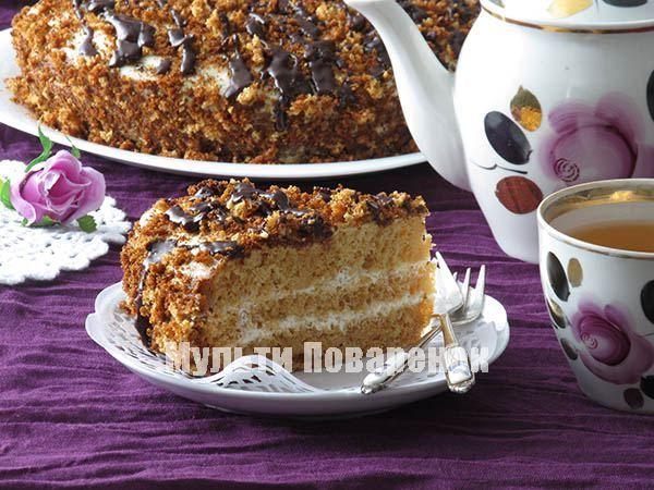 Медовик в мультиварке: рецепт медового торта