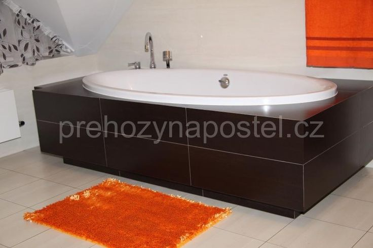 Koupelnové předložky oranžové barvy