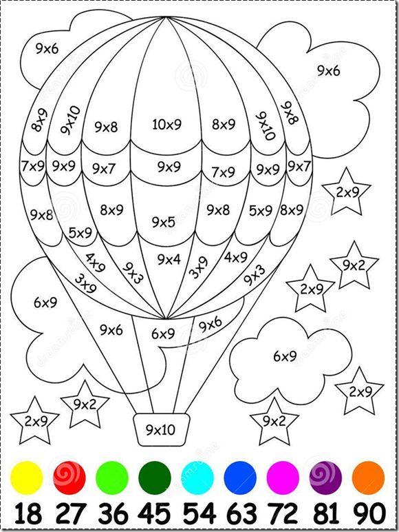 Blog de atividades fundamental 1 e 2: Exercícios para crianças com multiplicação por 9