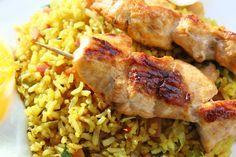 Wereldgerechten zonder pakje of zakje #18. Nasi met verse saté. -