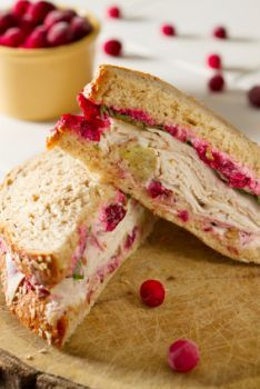 Cream Cheese Cranberry Tea Sandwich. make them into little squares or triangles and vwala!