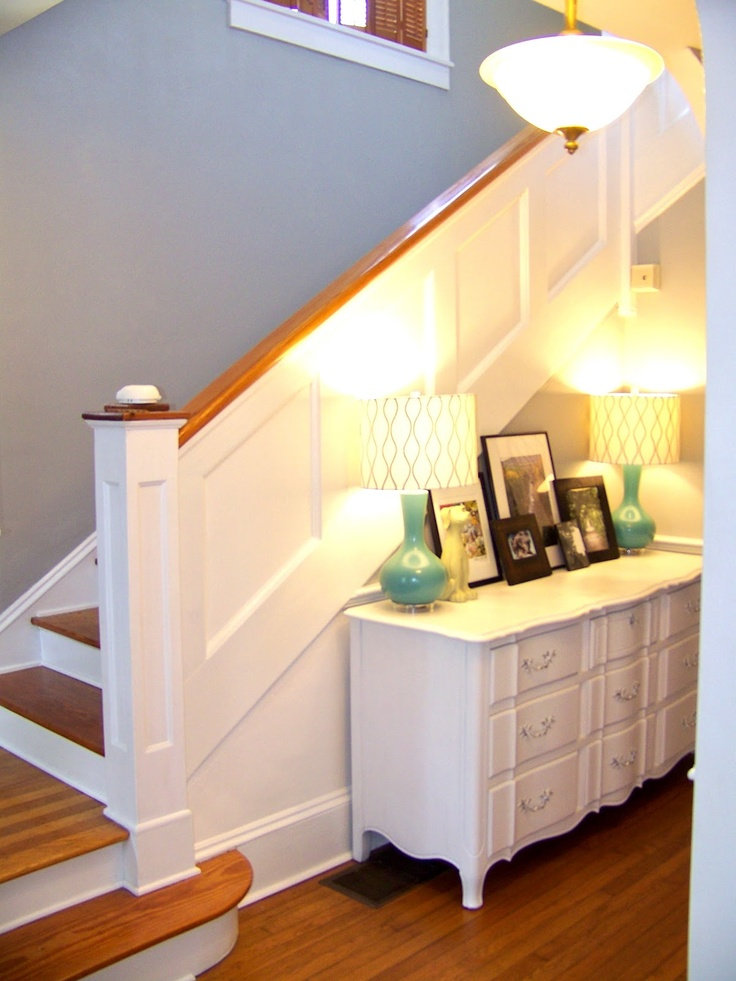 Beachy Living Room Wall Colors Half Moon Tables Furniture Soft Gray Is Called Urban Sunrise By Valspar And The Trim ...