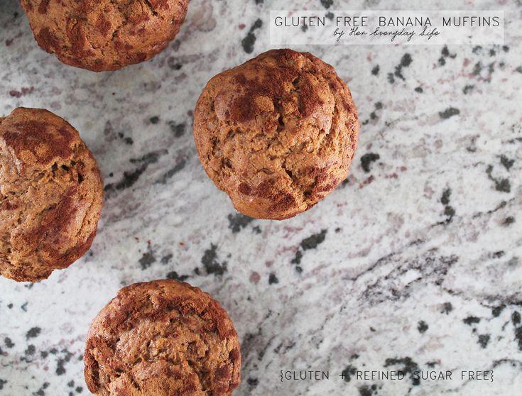 Gluten Free Banana Muffins #healthyeating