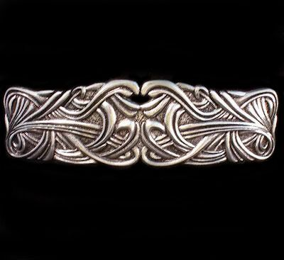 Art Nouveau Weave Hair Clip Barrette. Swirling, abstract Art Nouveau design. Manufactured by: Oberon Design--Note I just purchased this barrette from Oberon Design via Amazon.  It is beautiful. #barrette, #artnouveau