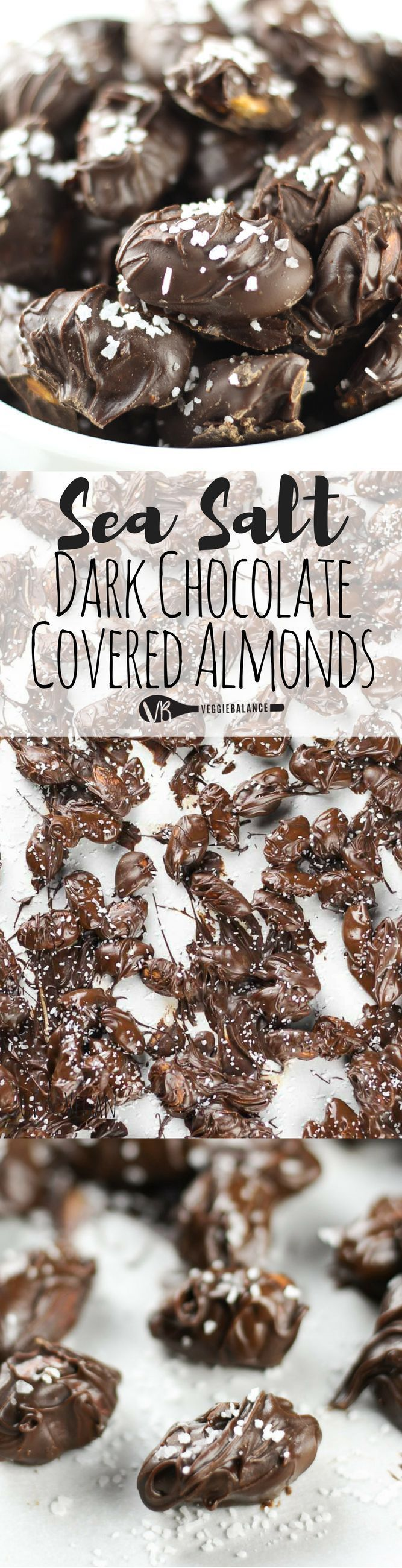 Dark Chocolate Covered Almonds recipe that is so easy to make. We'll show you how to make these easy sea salt chocolate covered almonds with just three-ingredients. Perfect for gift giving or those girl nights sitting around a table with a glass of wine. (Gluten-Free, Dairy-Free & Vegan Friendly)