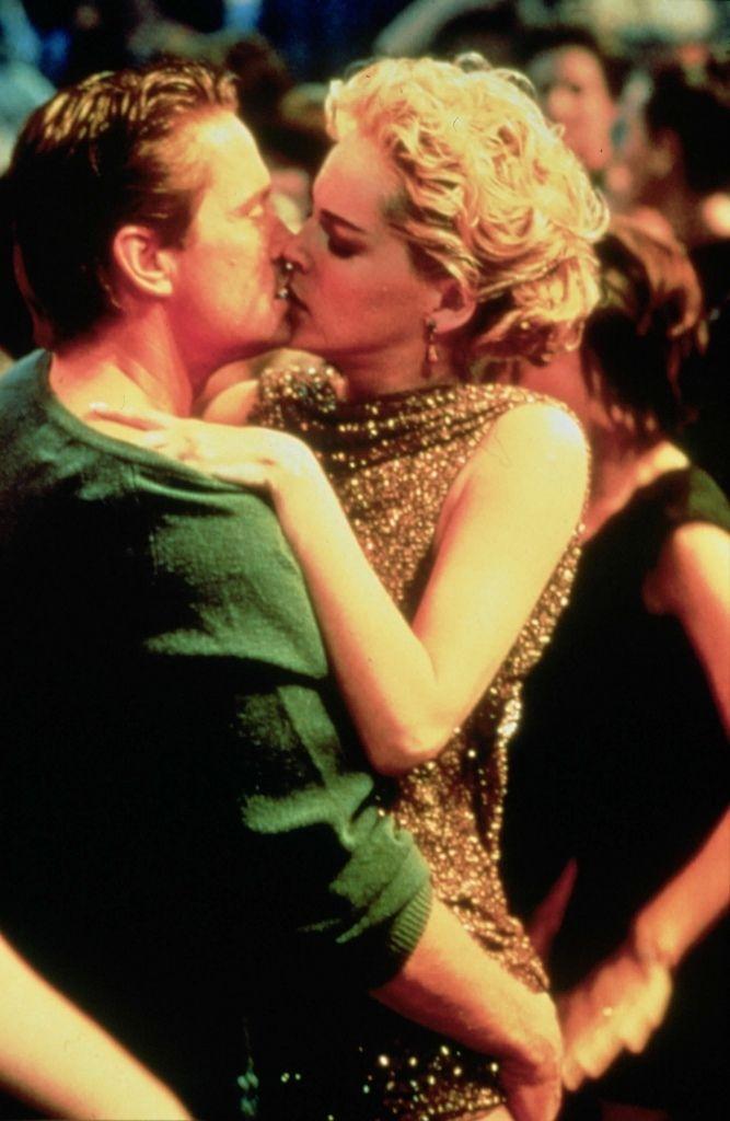 Sharon Stone et Micheal Douglas dans Basic instinct en 1992