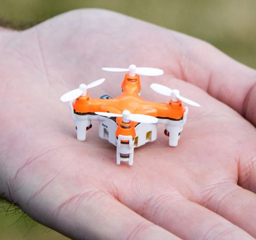 Buy the easy to fly smallest drone BuzzBee Nano Drone either in the world indoors or in the garden available for £27.95 at Genie Gadgets.
