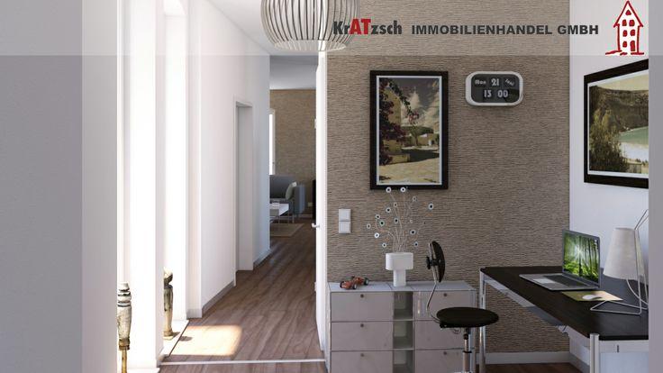 In der großen Diele lässt sich ein Arbeitsplatz oder eine großzügige Garderobe einrichten.  Unsere Wohnungen passen sich Ihren Ansprüchen an.